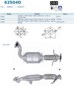 Pot catalytique pour Ford C-Max 1.8 TDCi 1753 cc 85 Kw / 115 cv 18TCLYNX 3/07>, Magnaflow