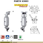 Pot catalytique pour Honda Civic 1.8i 16V 1799 cc 103 Kw / 140 cv R18A1 / R18A2 1/06>, Magnaflow