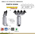 Pot catalytique pour Hyundai Accent 1.4i 16V 1399 cc 71 Kw / 97 cv 4EE 3/06>, Magnaflow