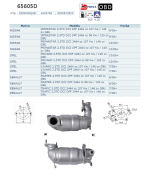 Pot catalytique pour Nissan Interstar 2.5 DCi DPF 2464 cc 107 Kw / 146 cv G9U 9/06>, Magnaflow