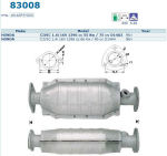 Pot catalytique pour Honda Civic 1.4i 16V 1396 cc 55 Kw / 75 cv D14A3 96>, Magnaflow