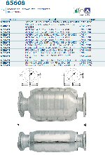 Pot catalytique pour Nissan 100NX 1.6 16V 1597 cc 70 Kw / 95 cv GA16DS 10/90>9/92, Magnaflow
