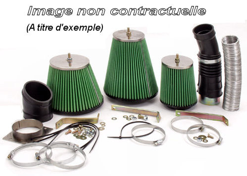 Kit admission directe pour Renault R21 2,0 turbo QUADRA (L48L) de 1987 à 1988 (162 cv), Green